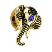 Plug Elefant 14k vergoldet mit Kristall