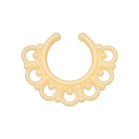 Fake Septum Tribal mit Kugeln ivory