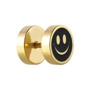Fake Plug vergoldet mit Smiley