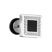 Fake Plug mit schwarzem Quadrat