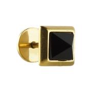 Fake Plug vergoldet mit Onyx Pyramide