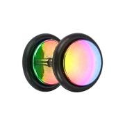 Fake Plug farbig mit O-Ring und Titanium Beschichtung