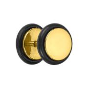 Fake Plug vergoldet mit O-Ring und Titanium Beschichtung