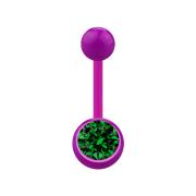 Banane violett mit Kugel und Kugel Kristall grün