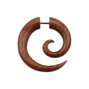Fake Spirale aus Sawo Holz