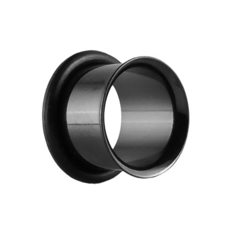 Flared Tunnel schwarz mit O-Ring