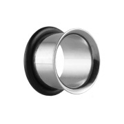 Flared Tunnel silber mit O-Ring