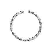 Micro Piercing Ring geflochten silber