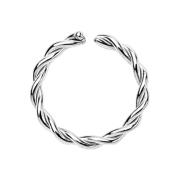 Piercing Ring geflochten silber