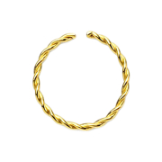 Micro Piercing Ring geflochten vergoldet