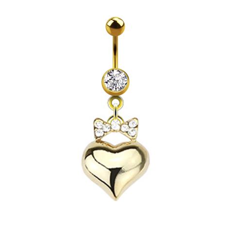 Nabel Piercing Playboy Medaillon Vergoldet Piercing-/körperschmuck