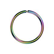 Micro Piercing Ring farbig mit Titanium Beschichtung