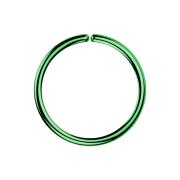Micro Piercing Ring grün mit Titanium Beschichtung
