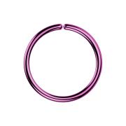 Micro Piercing Ring violett mit Titanium Beschichtung