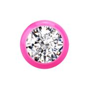 Kugel pink mit Kristall silber