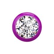 Kugel violett mit Kristall silber
