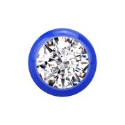 Kugel dunkelblau mit Kristall silber