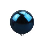Dermal Anchor Kugel dunkelblau mit Titanium Beschichtung
