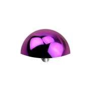 Dermal Anchor Halbrund violett mit Titanium Beschichtung