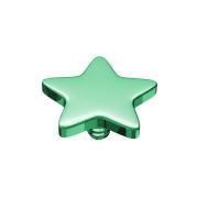 Dermal Anchor Stern grün mit Titanium Beschichtung
