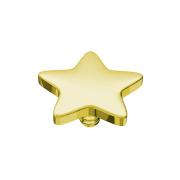 Dermal Anchor Stern vergoldet mit Titanium Beschichtung
