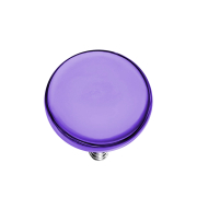 Dermal Anchor Scheibe violett mit Titanium Beschichtung