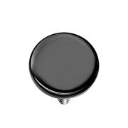 Dermal Anchor Scheibe schwarz mit Titanium Beschichtung