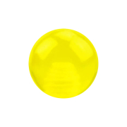 Kugel gelb transparent