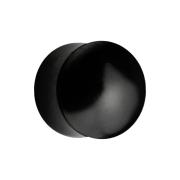 Flared Plug aus schwarzem Horn