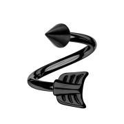 Micro Spirale schwarz mit Cone und Pfeil