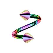 Micro Spirale farbig mit zwei Cones