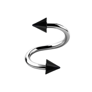 Spirale silber mit zwei Cones schwarz
