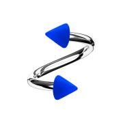 Micro Spirale silber mit zwei Cones dunkelblau