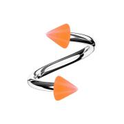 Micro Spirale silber mit zwei Cones orange