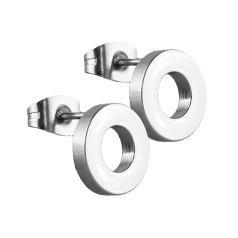 Ohrstecker Fake Tunnel silber