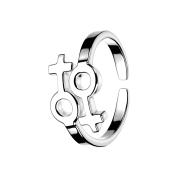 Ring mit doppeltem Symbol weiblich