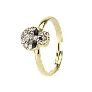 Ring vergoldet mit Totenkopf
