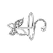 Ring silber mit Schmetterling