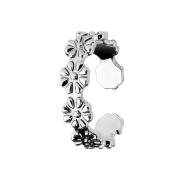 Ring silber mit Blumen