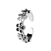 Ring silber mit fünf Blumen