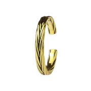 Ring 14k vergoldet geflochten