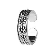 Ring silber mit neun Blumen