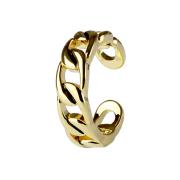 Ring 14k vergoldet Kette