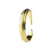 Ring 14k vergoldet Feder