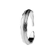 Ring silber Feder