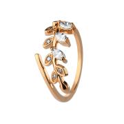 Ring rosegold mit Kristallblatt