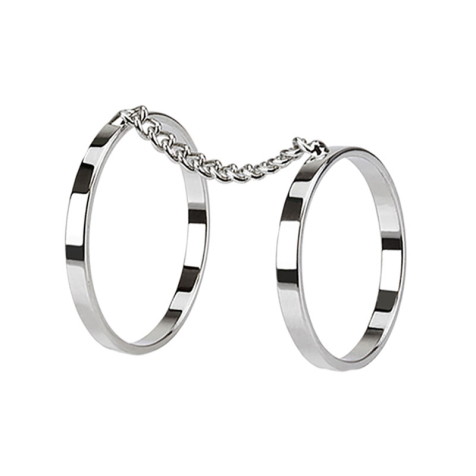 Ring silber doppel Ring mit Kette