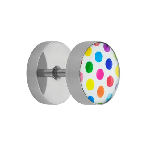 Fake Plug Supernova High Polished mit Polka Dots...