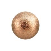 Micro Kugel rosegold gesprenkelt