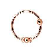 Micro Piercing Ring mit kleiner Seilwindung eng und 2 mm...